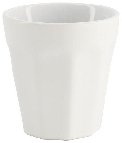 mok - 90 ml - Mirabeau mat - wit - 9602200 - HEMA