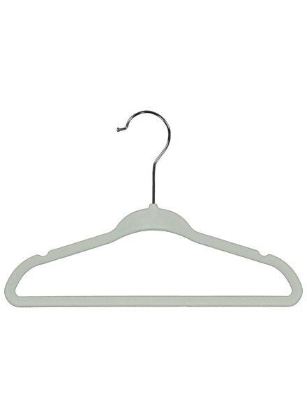 kledinghangers kind -  6 stuks  -  groen velours - 39891027 - HEMA
