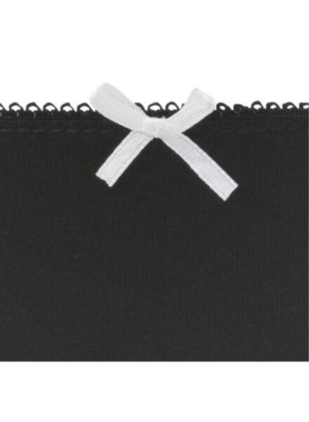 3-pak damesslips zwart/wit zwart/wit - 1000007842 - HEMA