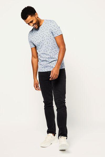 heren t-shirt blauw XL - 34297592 - HEMA