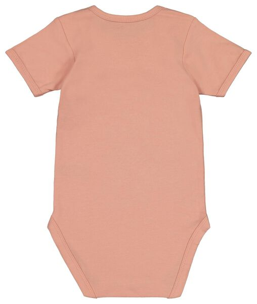 romper organic katoen stretch - 4 stuks roze 62/68 - 33305112 - HEMA