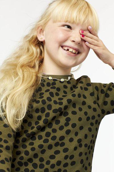 kindersweater legergroen 146/152 - 30817435 - HEMA