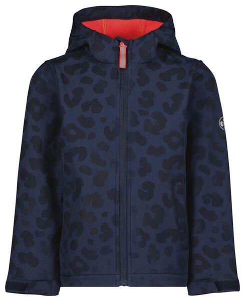kinderjas magic luipaard donkerblauw 122/128 - 30820468 - HEMA