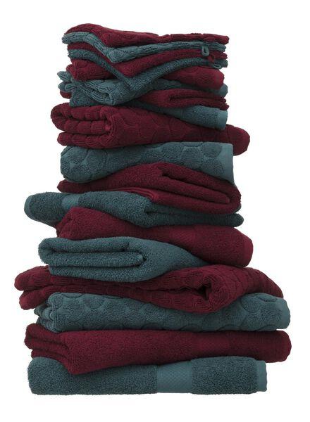 handdoek - 60 x 110 cm - zware kwaliteit - bordeaux donkerrood handdoek 60 x 110 - 5220005 - HEMA