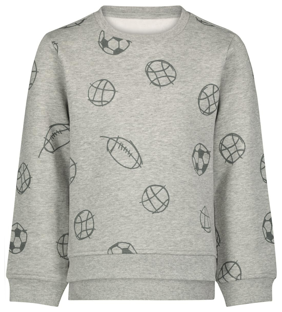 HEMA Kindersweater Sport Grijsmelange (grijsmelange)