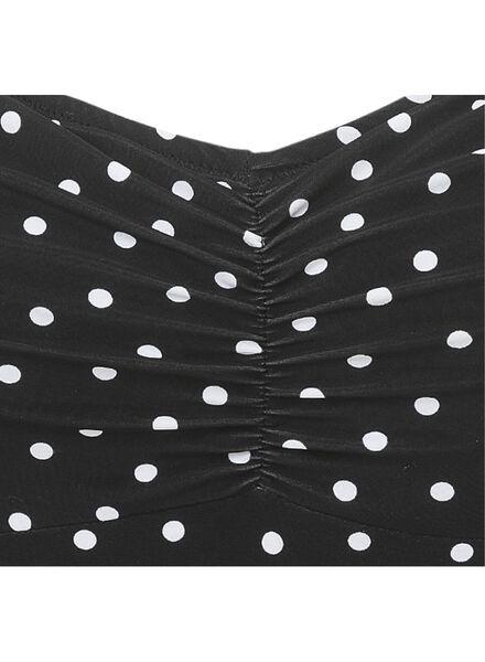 damesbadpak padded control zwart/wit zwart/wit - 1000011809 - HEMA