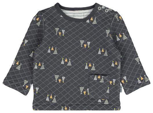 newborn sweater structuur grijs - 1000021456 - HEMA