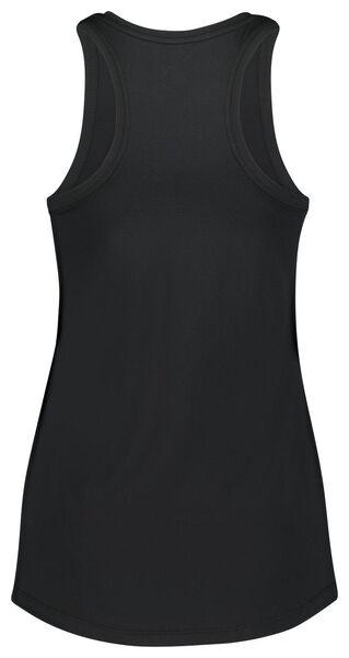 dames sportsinglet zwart S - 36060151 - HEMA