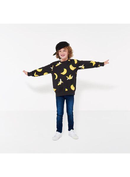 kinder sweater crewneck - Bananas&Bananas zwart zwart - 1000016535 - HEMA