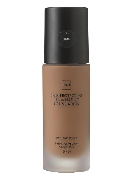 skin protecting illuminating foundation Dark 01 - 11292201 - HEMA