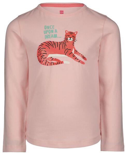kinderpyjama tijgers lichtroze 98/104 - 23050652 - HEMA