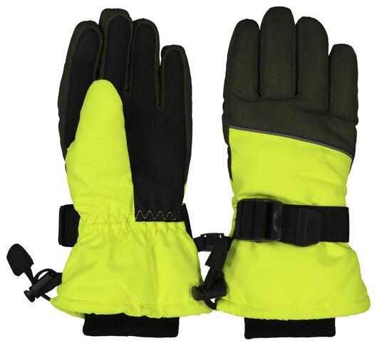 kinder skihandschoenen fluor geel 158/164 - 16750065 - HEMA