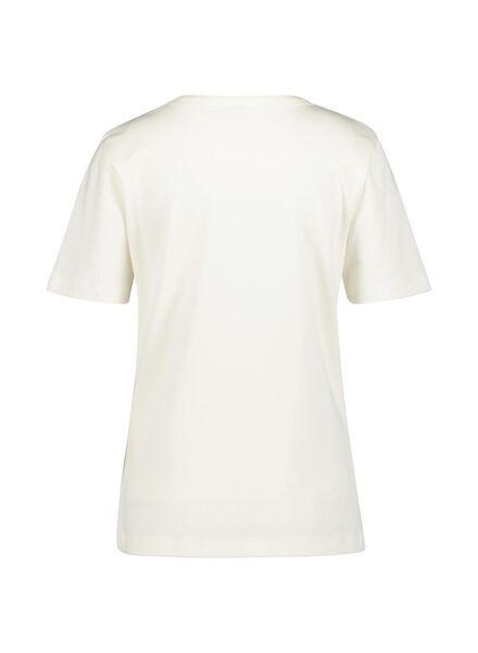 dames t-shirt gebroken wit gebroken wit - 1000015131 - HEMA