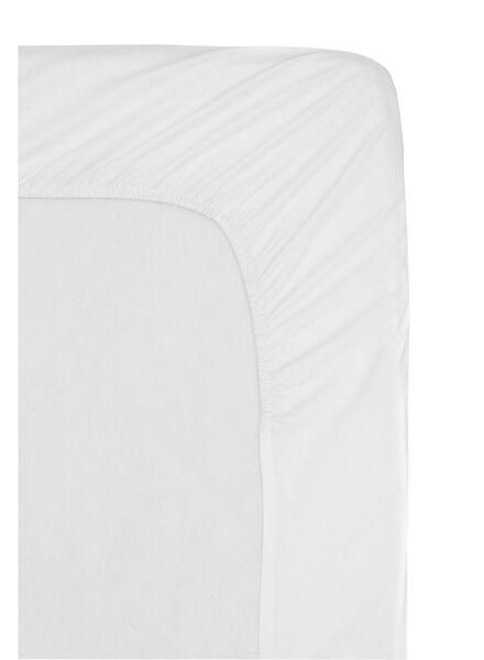 hoeslaken - hotel katoen percal - 80 x 200 cm - wit - 5140116 - HEMA