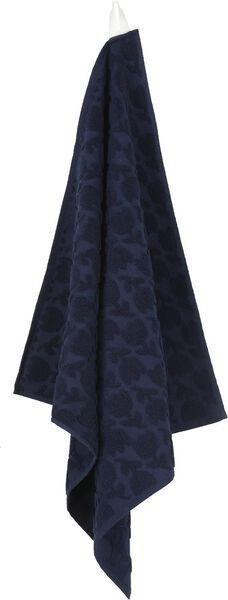 keukendoek - 52 x 52 - katoen - donkerblauw bloemen - 5400155 - HEMA