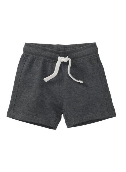 baby sweatshort donkergrijs donkergrijs - 1000007997 - HEMA