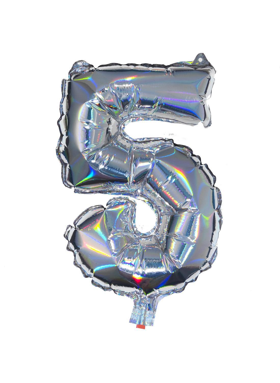 HEMA Folieballon 5 - Zilver (multicolor)
