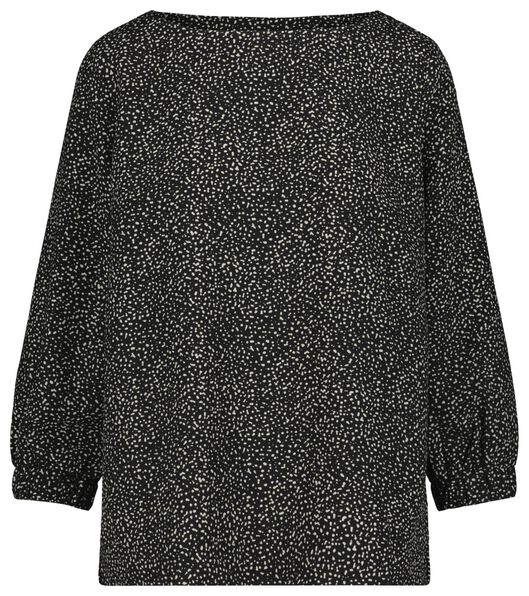 dames top zwart/wit zwart/wit - 1000019348 - HEMA