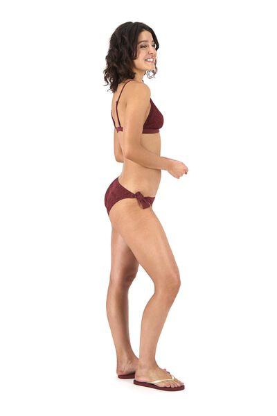 dames bikinislip donkerrood donkerrood - 1000017918 - HEMA