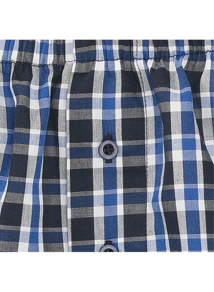 2-pak boxershorts geweven blauw blauw - 1000009010 - HEMA