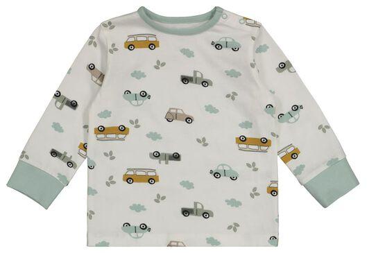 2-pak babypyjama's auto/streep gebroken wit 86/92 - 33327322 - HEMA