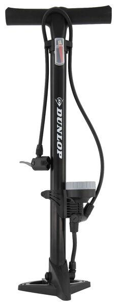 staande fietspomp met manometer 11 bar Dunlop - 41120051 - HEMA