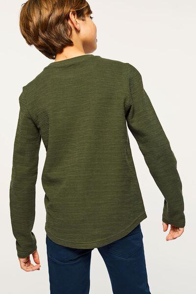 kindersweater jacquard legergroen legergroen - 1000022212 - HEMA