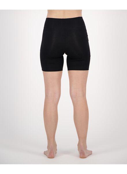 dames fietsshort real lasting cotton zwart zwart - 1000019865 - HEMA