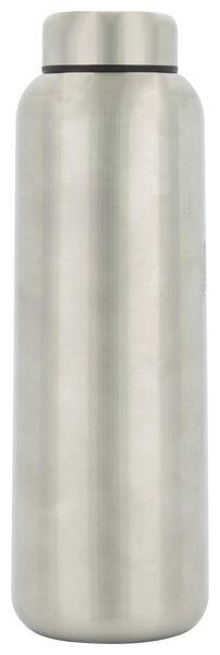 dubbelwandige fles RVS zilver 450 ml - 80660001 - HEMA