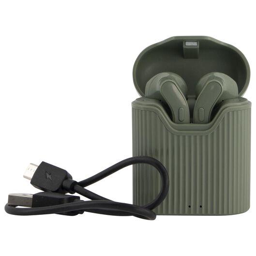 oortelefoon draadloos olijfgroen - 39630156 - HEMA