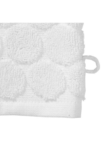 washand - zware kwaliteit - wit stip wit washandje - 5200063 - HEMA