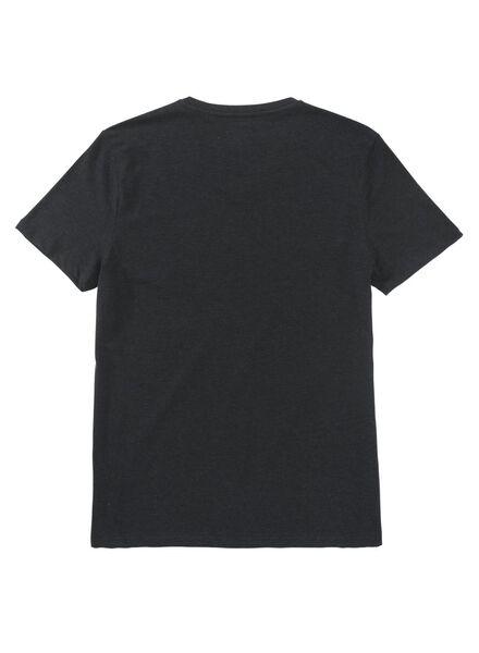 heren t-shirt zwart zwart - 1000009201 - HEMA