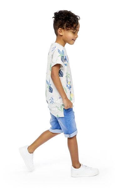 kindershort comfy fit middenblauw 134/140 - 30763141 - HEMA