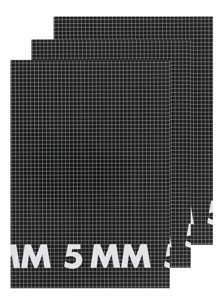 3-pak schriften A4 geruit 5 mm - 14522517 - HEMA