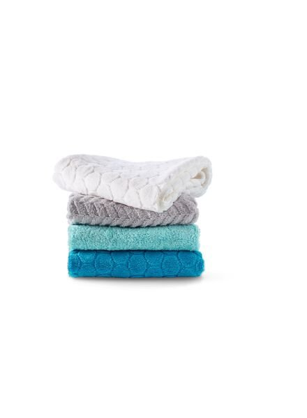 handdoek - 50 x 100 cm - zware kwaliteit - donkerblauw zigzag - 5240183 - HEMA