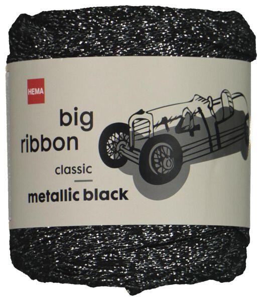 lintgaren metallic zwart zwart - 1000022538 - HEMA