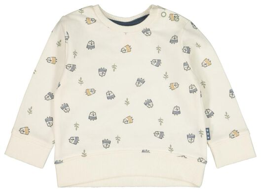 newborn sweater dieren wit wit - 1000022135 - HEMA