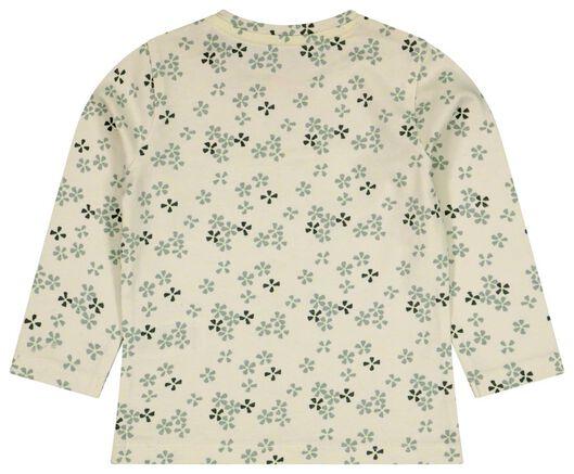 baby t-shirt bloemen bonjour blauw blauw - 1000024508 - HEMA