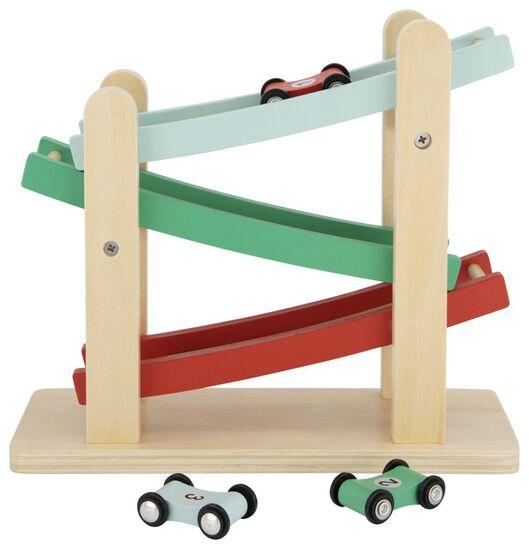 rollerbaan met auto's hout - 15130113 - HEMA
