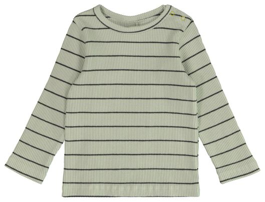 baby t-shirt rib lichtblauw lichtblauw - 1000021814 - HEMA
