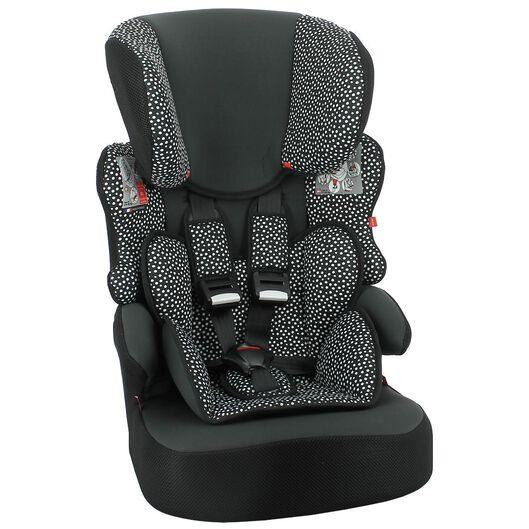 autostoel doorgroei 9-36kg zwart/witte stip - 41700007 - HEMA