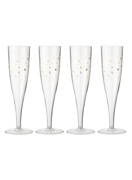 4-pak plastic champagneglazen - 25250031 - HEMA
