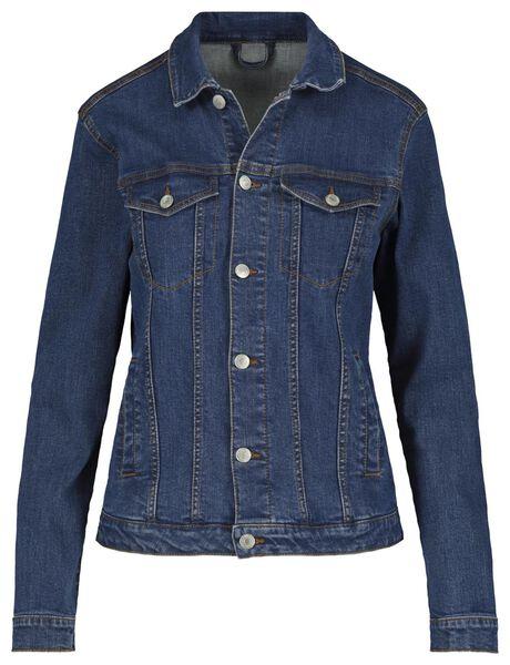dames spijkerjasje middenblauw middenblauw - 1000018279 - HEMA