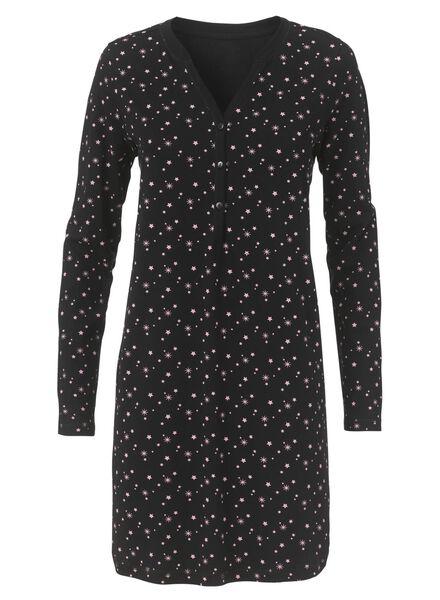 dames nachthemd zwart zwart - 1000010572 - HEMA