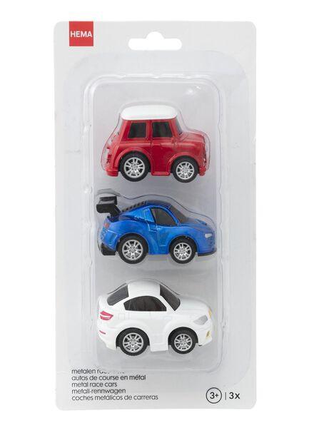 3-pak metalen race auto's - 15160107 - HEMA