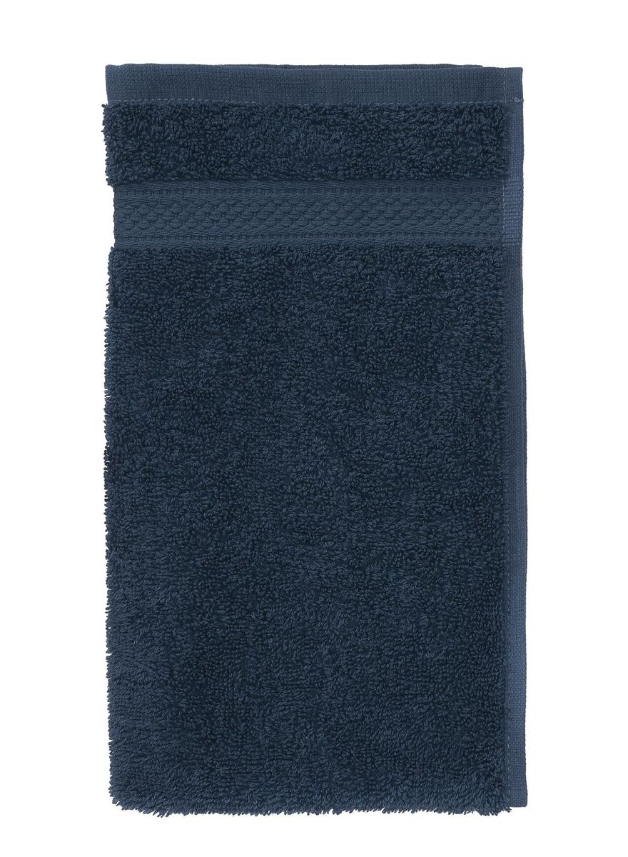 4 stuks. Gastendoek - 30 x 55 cm - zware kwaliteit - denim uni