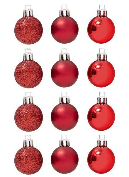 12-pak plastic kerstballen - 25100619 - HEMA