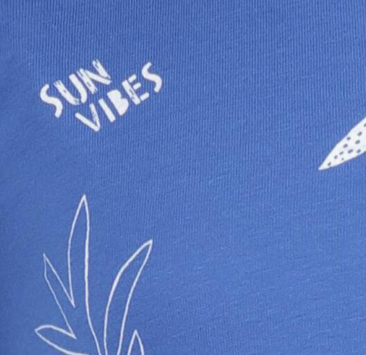 kinder t-shirt blauw blauw - 1000018337 - HEMA