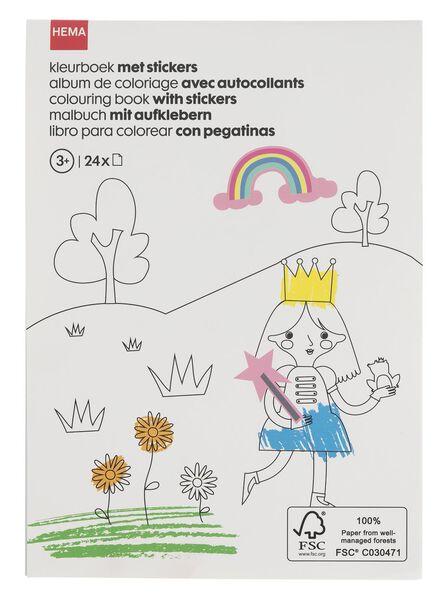 kleurboek met stickers A5 - 15910071 - HEMA