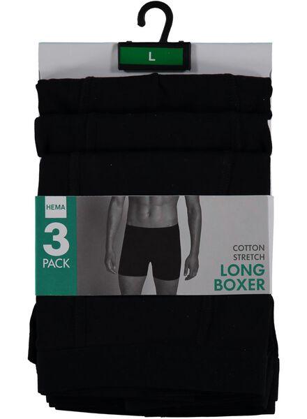 3-pak herenboxers zwart zwart - 1000001218 - HEMA